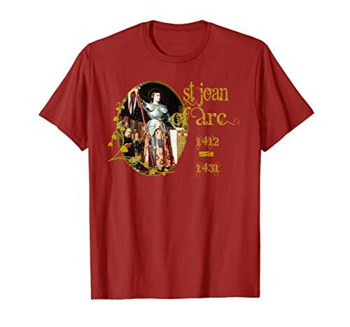 (St Joan of Arc T-Shirt Catholic Saints T-Shirts)