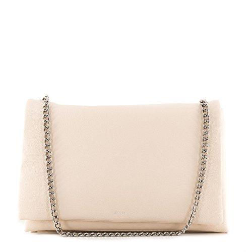 Nuova stagione / Rouven / Liv 30 3Fold Sacchetto di spalla della catena / Ivory Beige Crema / borsa della borsa delle donne / Formato medio / voluminoso chic elegante moderno / 30x20x10cm