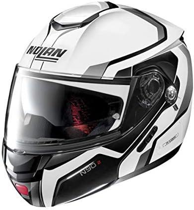 Nolan Herren N90 2 Helmet Weiß L Auto