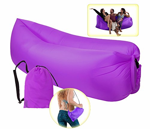 Inflatable Lounger Air Couch Sofa with Carry Bag,Portable Hangout Bean Bag for (Accessory Indoor Air Quality Fans)