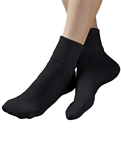 Buster Brown 100% Cotton Socks, Black, 9, (100 Cotton Socks)