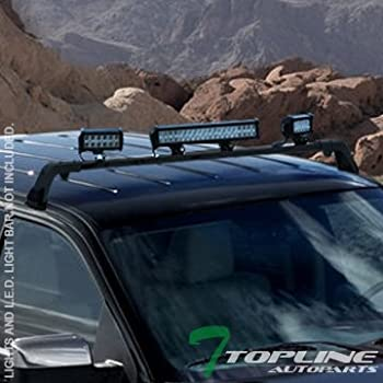 Amazon warn 73745 trans4mer angled light bar black automotive topline autopart matte black deluxe rota roof light lamp bar mount gutter less brackets mozeypictures Choice Image