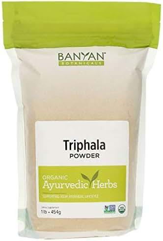 Banyan Botanicals Organic Triphala Powder - 1 Pound - USDA Organic - Balancing Formula for Detoxification & Rejuvenation*