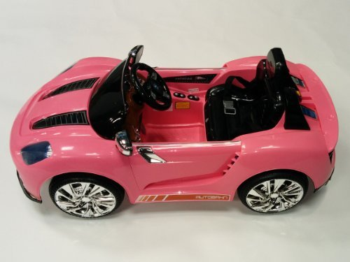Remoted-Controlled-Pretty-in-Pink-918-Style-Kids-12v-Battery-Powered-Wheels-Ride-on-Car-Sports-Car