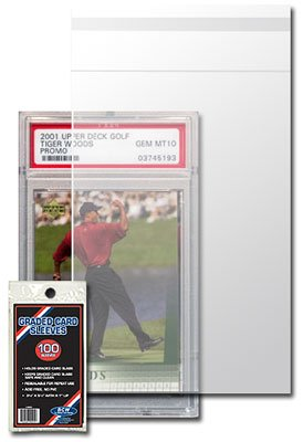 BCW Resealable Graded Card Sleeve - 3 3/4 X 5 1/2 - (5 Pack) Baseball, Football, Basketball, Hockey, Golf, Single Sports Cards Top Load - Sportcards Card Collecting Supplies ()