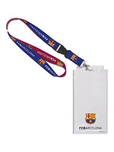 WinCraft FC Barcelona Sports Two Toned Blue Red Buckle Lanyard -