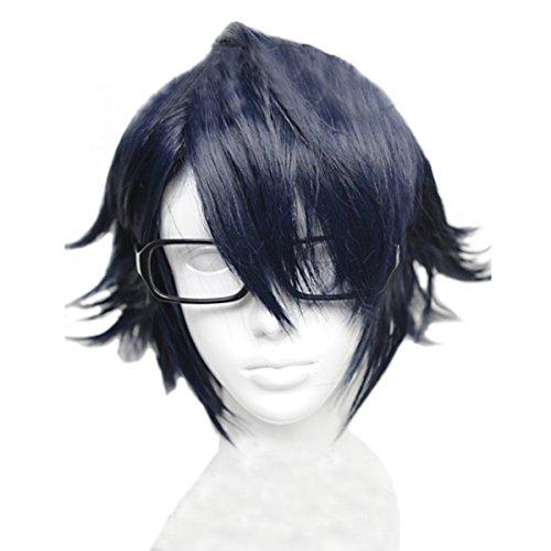 Angelaicos Men's Cosplay Party Wig for K Fushimi Saruhiko Short Blue