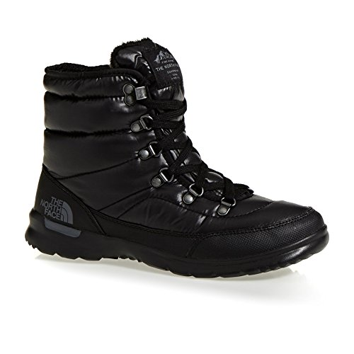 The North Face Damen W Thermoball Lace Ii Wanderschuhe, Shiny Tnf Black/Iron Gate Grey