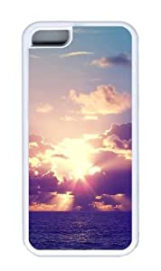 Customized Case landscapes nature sunset sea 10 TPU White for Apple iPhone 5C