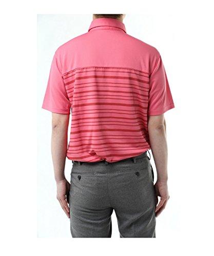 ツアーディビジョン メンズ ゴルフウェア ポロシャツ 半袖 胸切替ボーダー TD220101H01 RD O