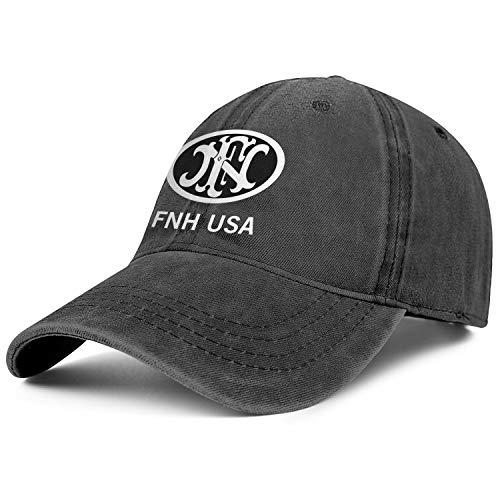 US-COWBOY FNH USA Fn Herstal Cowboys Cap Six Panel Cute Flat Ponytail Hats Men Women