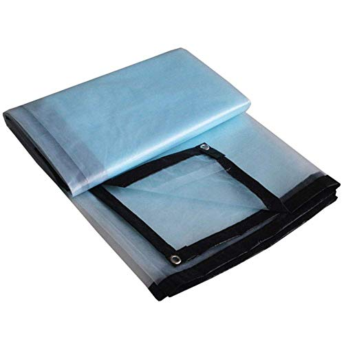 YU-B0 Clear Tarpaulin Waterproof Heavy Duty Easy to Fold Metal Hole Polyethylene, 17 Sizes (Color : Clear, Size : 5x6M),26m ()