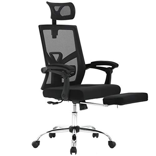 BestMassage Office Chair Desk with with Footrest Headrest Adjustable High Back Computer Task Swivel Executive Sofa for Home Black