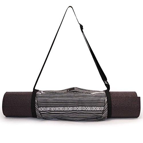 Aurorae Yoga Mat Sling Carrier (Black/White)