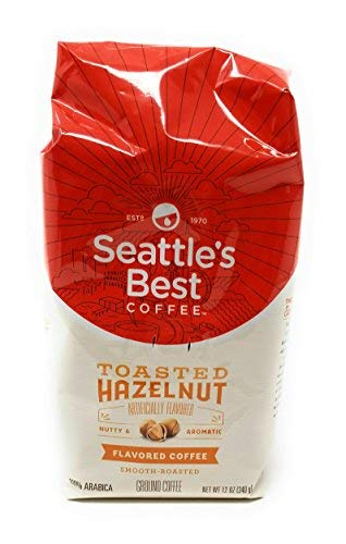 (Seattle's Best Toasted Hazelnut Flavored Ground Coffee, 12-Ounce Bags (Pack of 3))