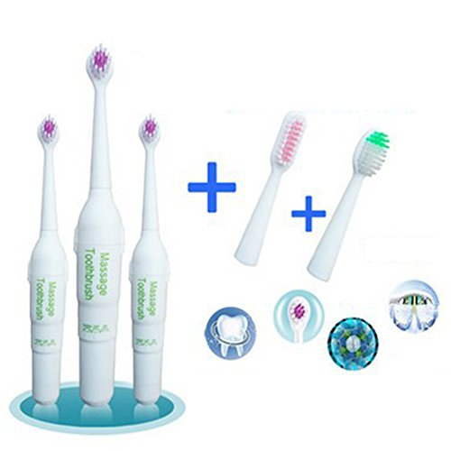 CYNDIE Waterproof Electric Kids Toothbrush Rotary Non-slip With 2 Extra Heads Oral Toothbrush Care