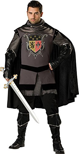 UHC Men's Dark Knight Outfit Fancy Dress Halloween Plus Size Costume, 3XL (The Dark Knight Outfit)