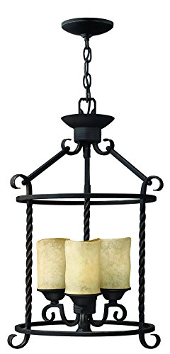 Foyer Light Bronze Forged Three (Hinkley 3502OL Traditional Three Light Foyer from Casa collection in Bronze/Darkfinish,)