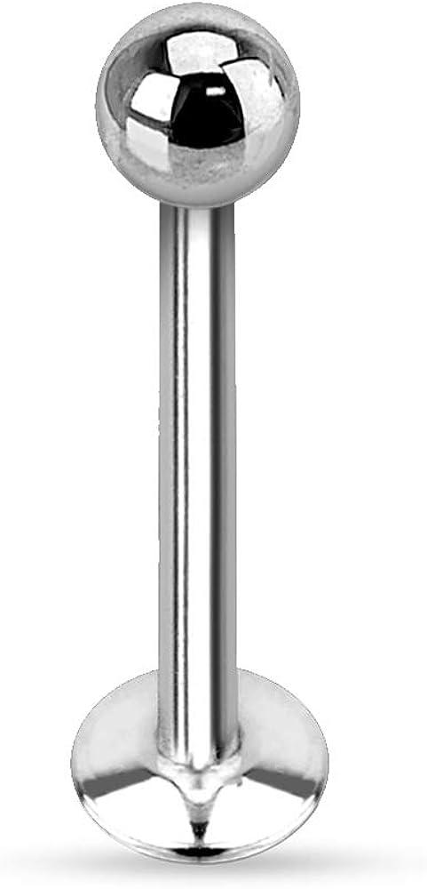 16g 18g internamente roscado Labret Bar 2mm joya pendiente Stud Helix a granel 1 5 10 un