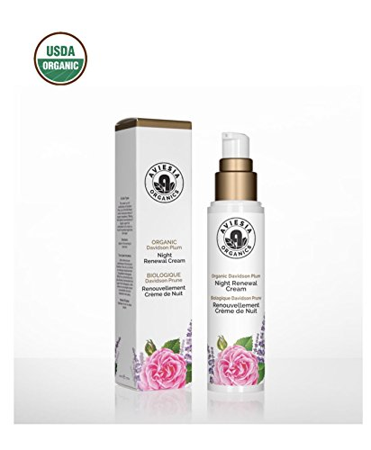 Price comparison product image Aviesia Organics Renewal Night Cream - 100% USDA Certified - Organic Anti-aging Renewing Facial Skin Care - Natural Skincare 50ml / 1.7oz (50ml / 1.7 fl oz)