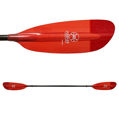 Werner Camano Fiberglass 2-Piece Paddle - Straight Shaft Red, 220cm