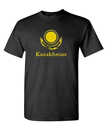 The Goozler KAZAKHSTAN - borat funny movie middle east Tee Shirt T-Shirt, M, Black - Borat Movie T-shirt
