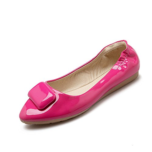 Single Spring Blue Sweet flats JIEEME shoes Ballet Women Black Red Flat Ladies toe Pointed P5w5qx1BU