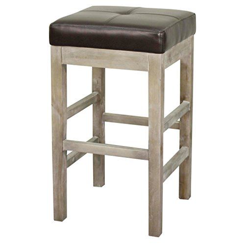 Valencia Backless Bonded Leather Counter Stool 27