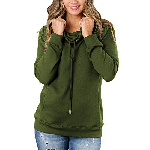 cowl neck hoodie woman - 9