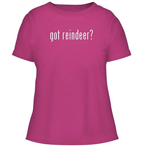 Glass Spun Reindeer (BH Cool Designs got Reindeer? - Cute Women's Graphic Tee, Fuchsia, Medium)