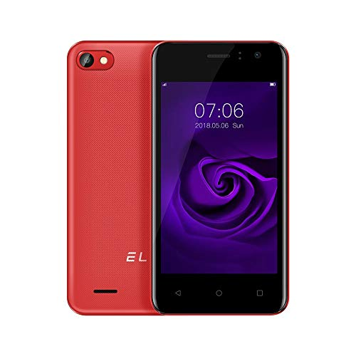 (Fheaven Unlocked Phone,Global EL W40 3G Smartphone 4.0 inch Android 6.0 4GB ROM Quad Core Dual SIM Smart Phone (Red))