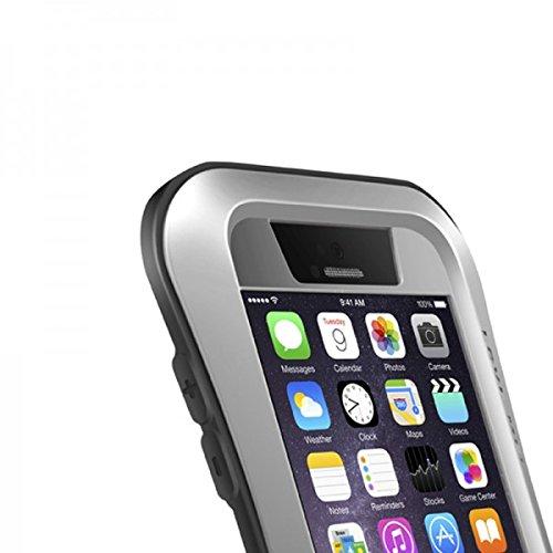 Original Love MEI Outdoor Metall Bumper Hülle Case Cover für Apple iPhone 6 4.7 Schutzhülle Backcover hochwertig Premium Silber