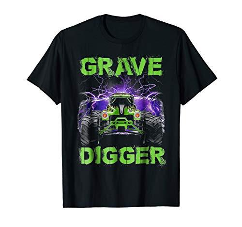 Monster-Truck Shirt Grave Green Digger Racing T-Shirts