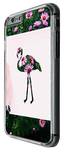 1330 - Cool Fun Trendy cute kwaii flamingo floral birds flowers daisy Design iphone 4 4S Coque Fashion Trend Case Coque Protection Cover plastique et métal - Clear