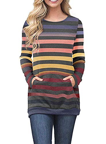 Spandex Striped Sweater - 8