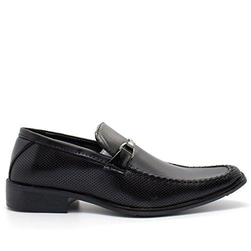 Sandalen Keilabsatz London Schwarz Plateau Footwear Herren mit Durchgängies w4n68HqI