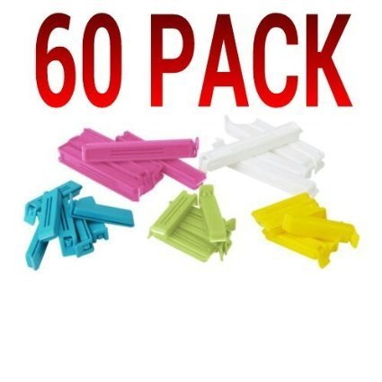 (Ikea 700.832.52 Bevara Sealing clip, assorted colors, assorted sizes, 2 SETS OF 30 - 60 TOTAL)