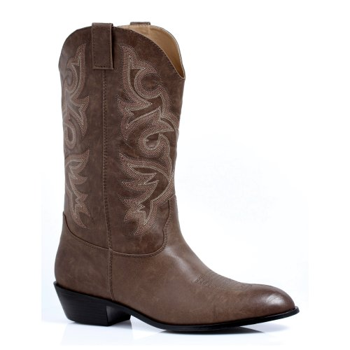 Cowboy Boot Inch Heel Men's 5 1 Brown Pu;Small gcq8nUZn