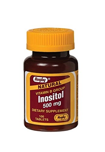 Rugby Inositol 500MG TAB INOSITOL-500 MG Off White 100 Tablets UPC 005363984011 -