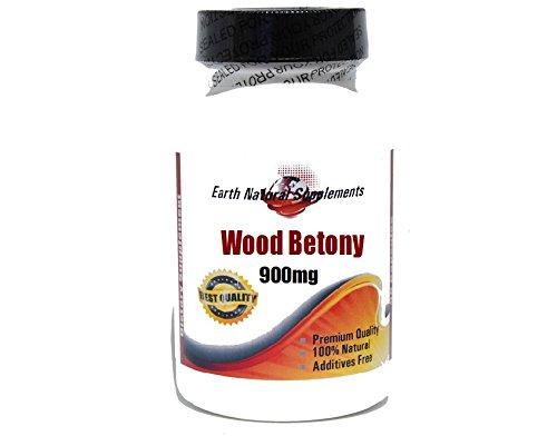 Древесина Betony 900 мг * 200 капсул 100% натуральный - на EarhNaturalSupplements