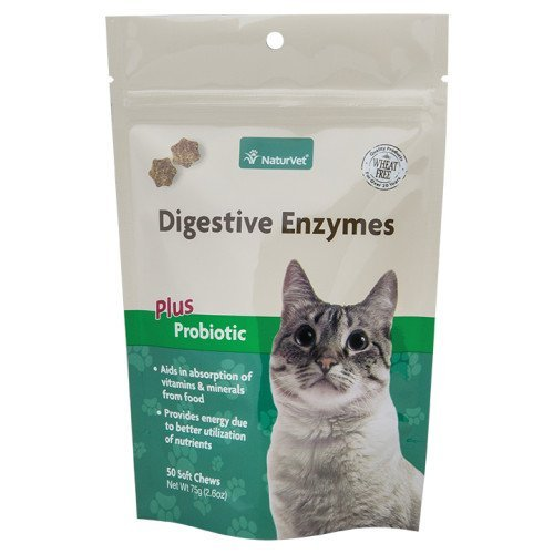 NaturVet 50 Count Digestive Enzymes Plus Probiotics 2-in-1 Soft Chew