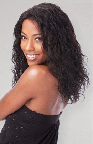 SAGA Indian Remy Hair Lace Front Wig - LOOSE DEEP (Wet & Wavy) - 1 JET BLACK