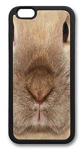 Big Face Bunny Custom iPhone 6 4.7inch Case Cover TPU Black