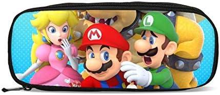 FENGHU Super Mario - Juego de 4 mochilas, diseño de Super Mario Bros de anime para niños y mujeres, mochila para hombres con caja de almuerzo, estuche para lápices, Mocila Infantil: Amazon.es: