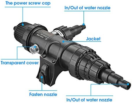 18W Fish Tank UV Sterilizer Light Non-Submersible 110V Ultraviolet Water Clarifier with Bulb Tube Clean Lamp Adapt to 5284 Gallon Koi Gold Fish Aquarium Ponds