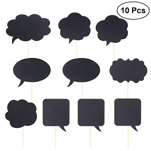Polymer Party Photo Booth Props Paper Chalkboard Photography Props Wedding Photo Booth Props DIY Funny Speech Card -