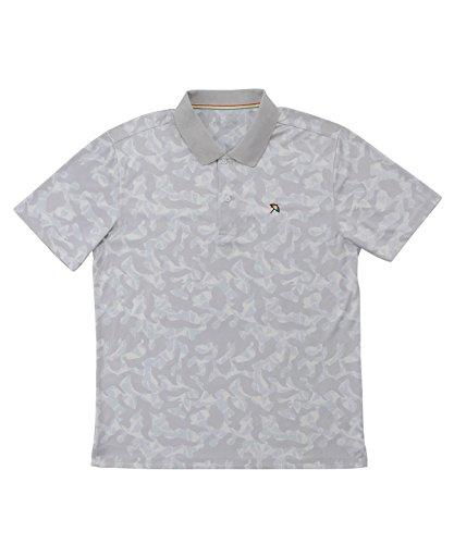 アーノルドパーマー メンズ ゴルフ ポロシャツ 半袖 総柄PT半袖ポロ AP220101H07 LGY O