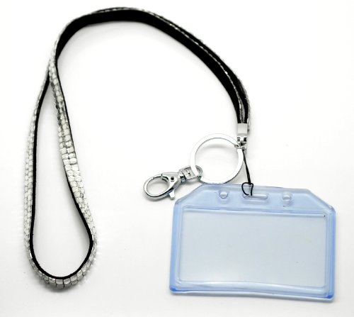 Rhinestone Keychain ID Badge Lanyard (Clear) Photo #3