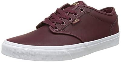 Vans VA327LK8S Men's Atwood (Leather) Shoes, Port/White, 7.5 M US