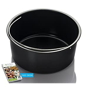 Air Fryer Baking Pan ( Also fits the Instant Pot) - for Gowise Philips NuWave Cozyna Power Farberware Secura and more brands - Fit all 2.75QT 3.7QT 5.3QT 5.8QT and For 3 QT to 6QT instant pots
